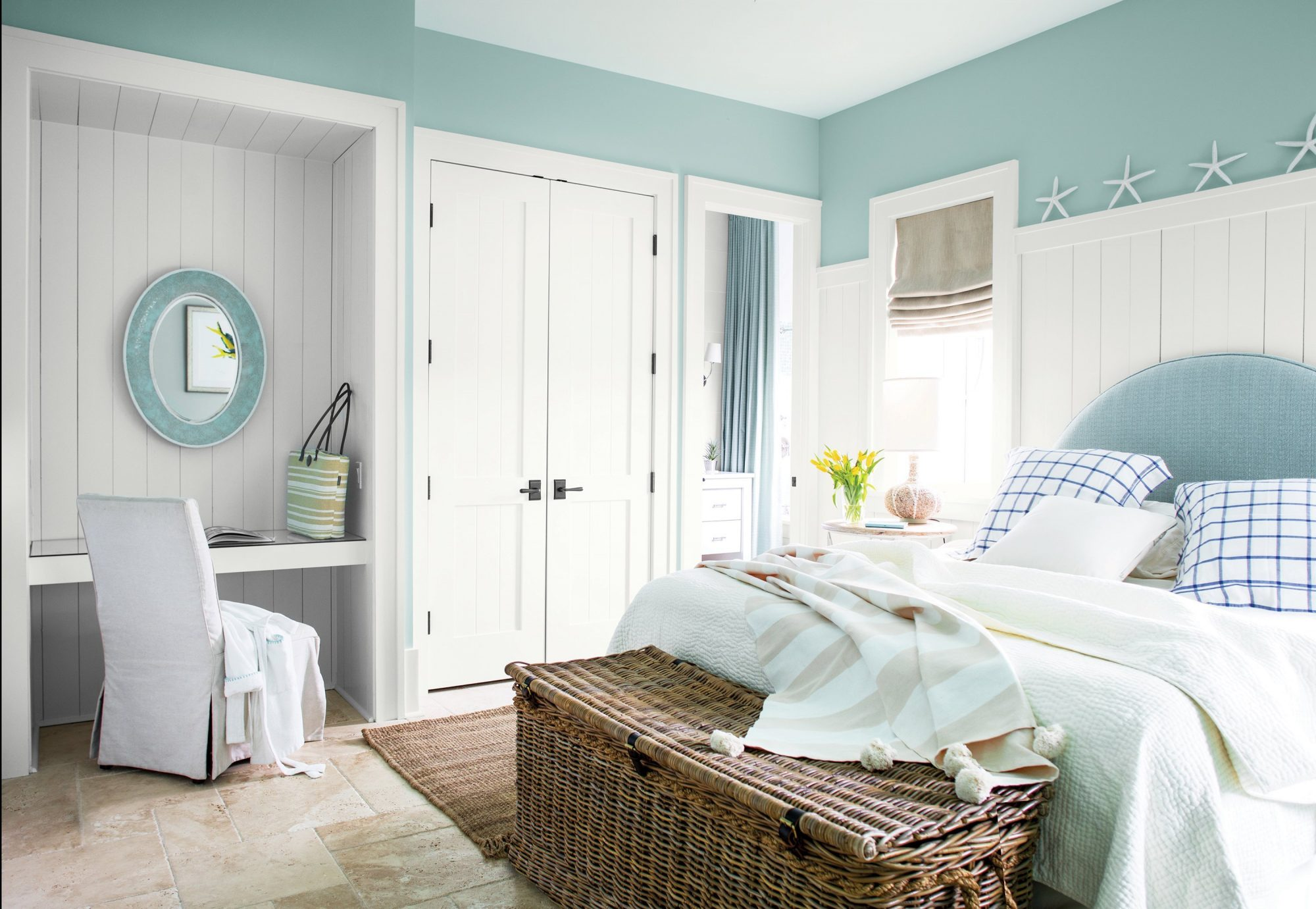 Light_Blue_Bedroom_with_Wicker_Basket